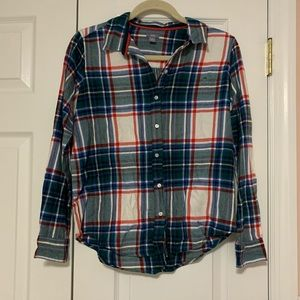 Aerie Holiday Flannel Button Up